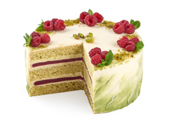 Торт Фисташково-малиновый